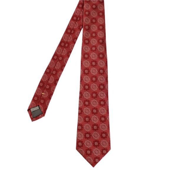 Canali Floral Tie Burgundy 1