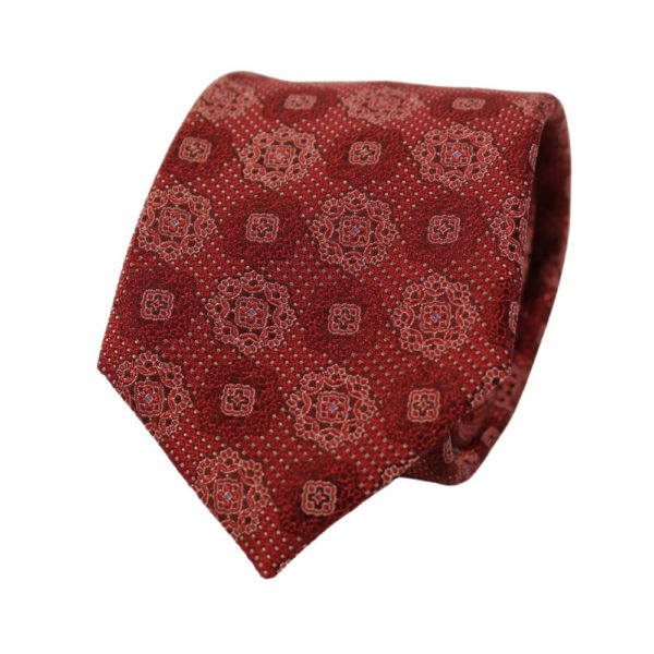 Canali Floral Tie Burgundy 2