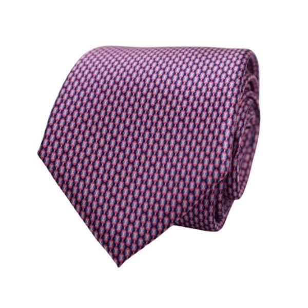 Canali Mini Pattern Tie Pink Blue 1