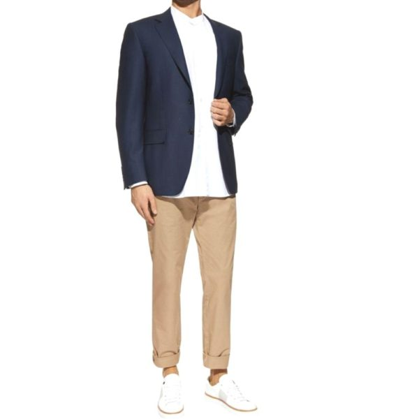 Canali Silk and linen blend jacket in Marine Blue 1
