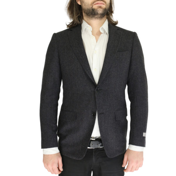 Canali charcoal textured jacket