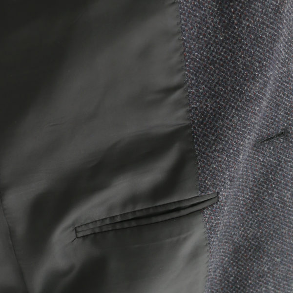 Canali charcoal textured jacket lining