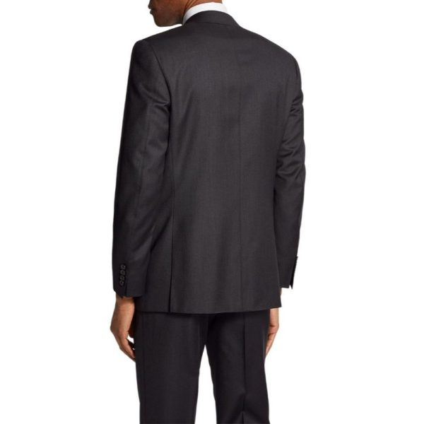 Canali classic fit charcoal suit back