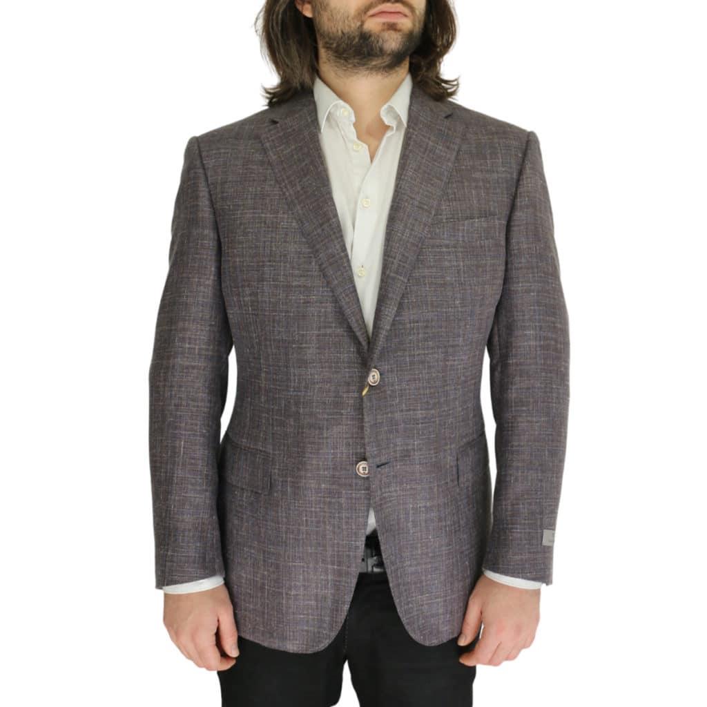 Canali grey textured jacket
