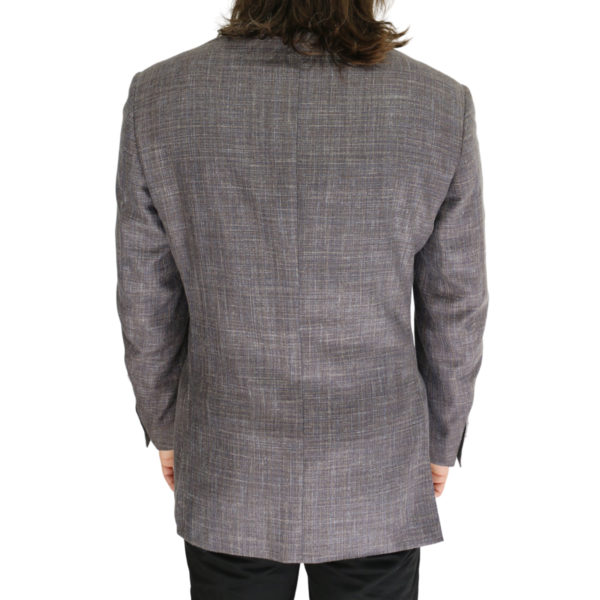Canali grey textured jacket back
