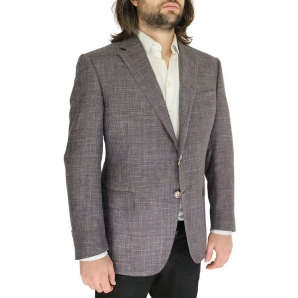 Canali grey textured jacket side
