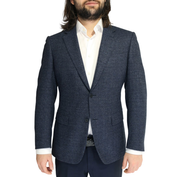 Canali jacket wool speckled navy1
