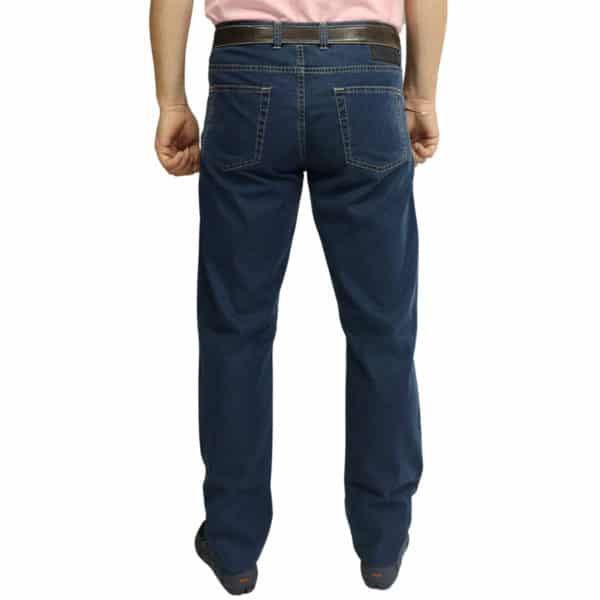 Canali jeans black logo navy back