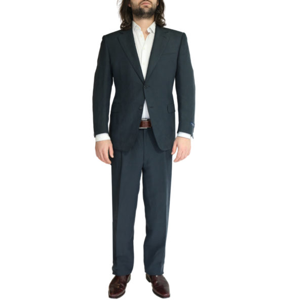 Canali silk and linen suit charcoal
