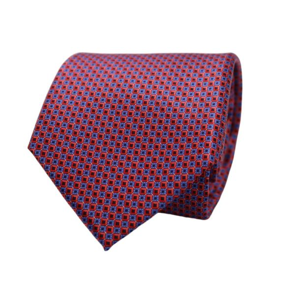 Canali squares tie red blue 1