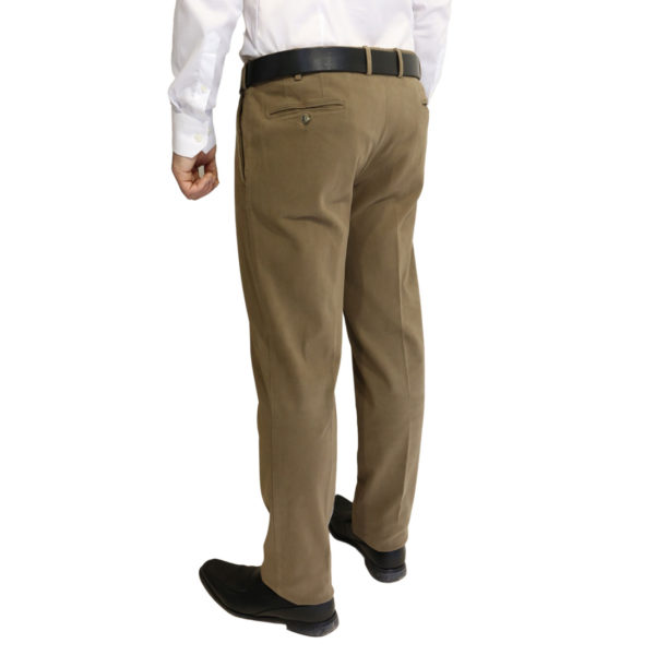 Canali taupe soft flexible chino 2