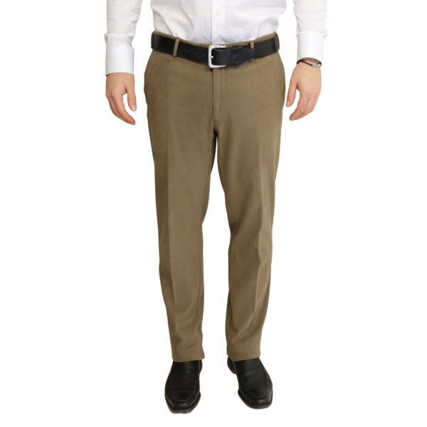 Canali taupe soft flexible chino