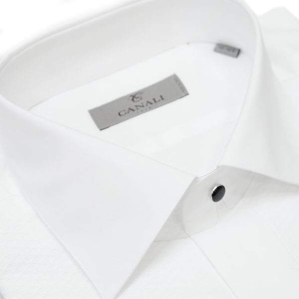 Canali white dress shirt collar