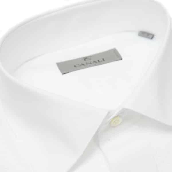 Canali white dress shirt collar1