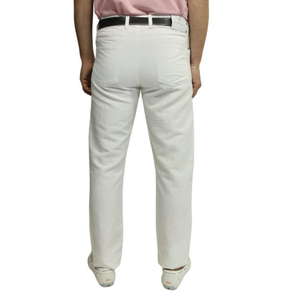 Canali white jean back