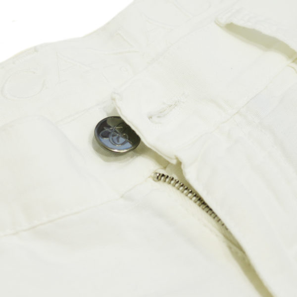 Canali white jean back detail