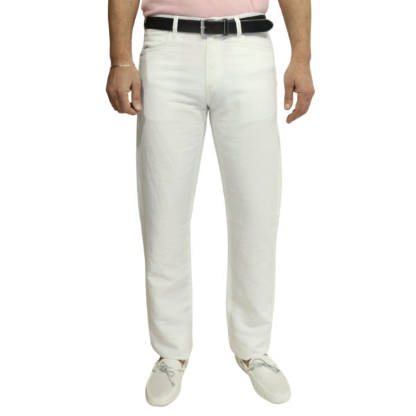 Canali white jean front