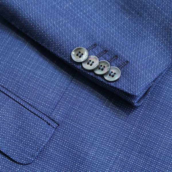 Carl Gross navy jacket button detail