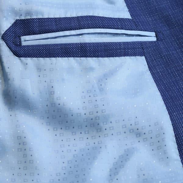 Carl Gross navy jacket lining detail
