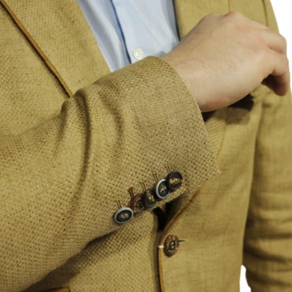Circle of Gentlemen blazer jacket beige button detail