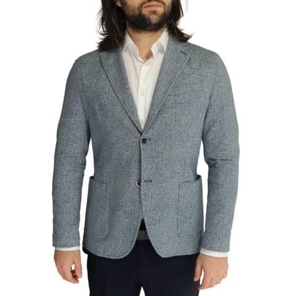 Circolo blue herringbone jacket