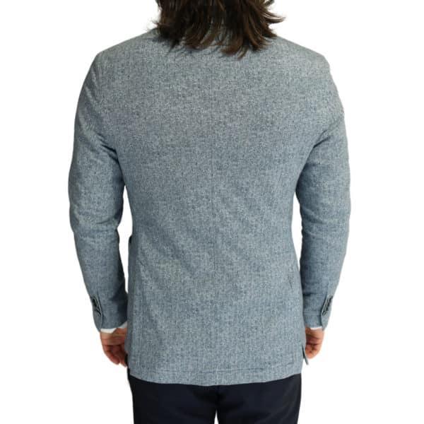 Circolo blue herringbone jacket back