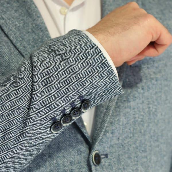 Circolo blue herringbone jacket buttons