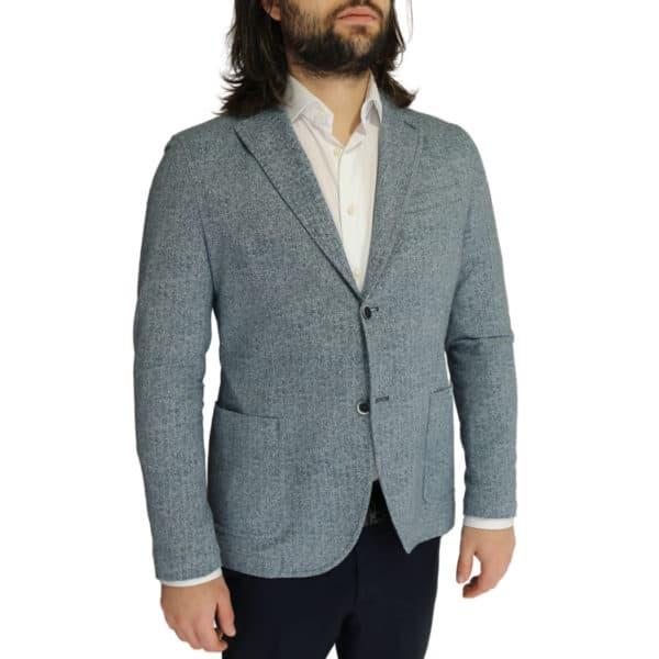Circolo blue herringbone jacket side