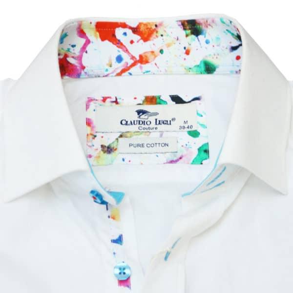 Claudio luigi shirt abstact collar