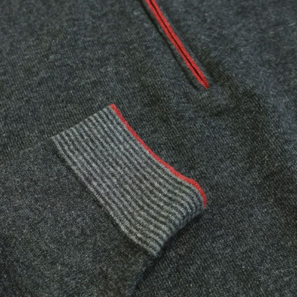 Codice Half Zip Charcoal 1
