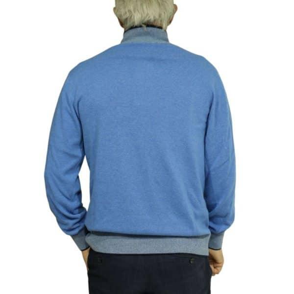 Codice Half Zip Sweater Mid Blue 1