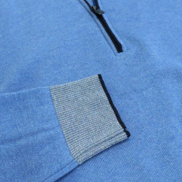 Codice Half Zip Sweater Mid Blue 3