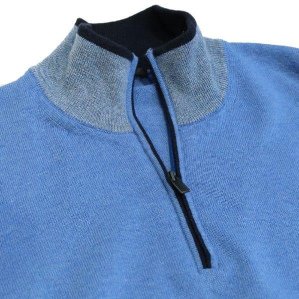 Codice Half Zip Sweater Mid Blue 4