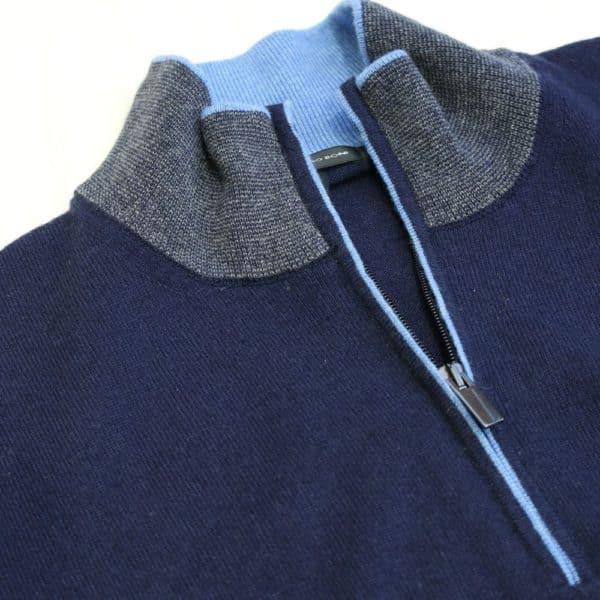 Codice Half Zip Sweater Navy 1