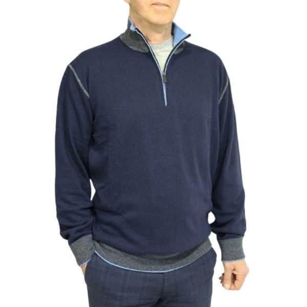 Codice Half Zip Sweater Navy 3
