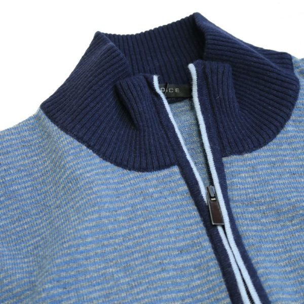 Codice Striped half zip sweater 1