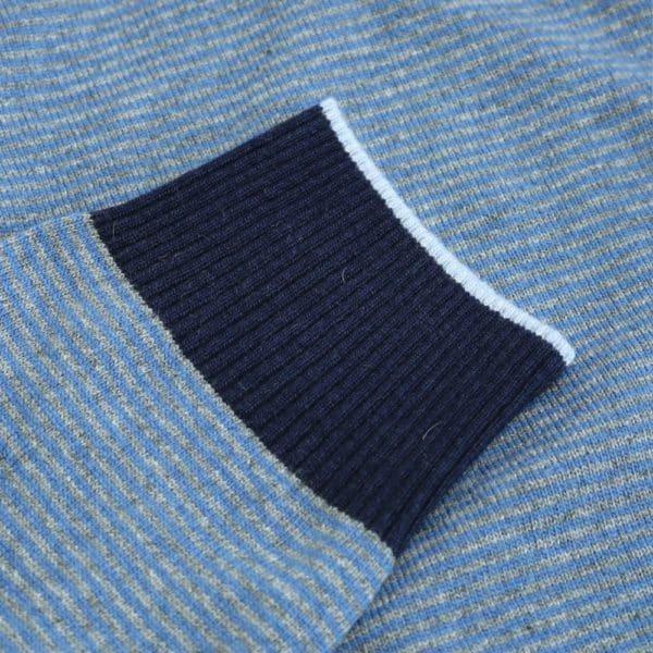 Codice Striped half zip sweater 2