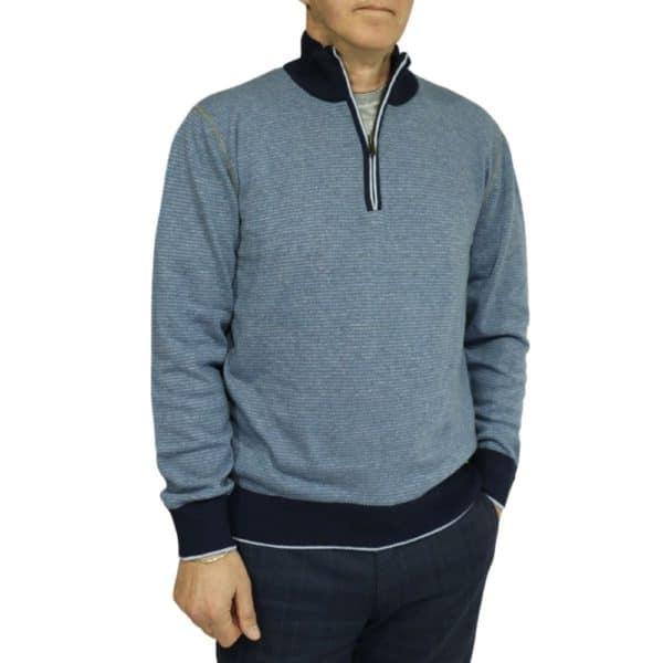 Codice Striped half zip sweater 3