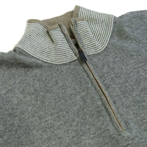 Codice Sweater half zip grey 1