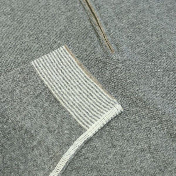 Codice Sweater half zip grey 3