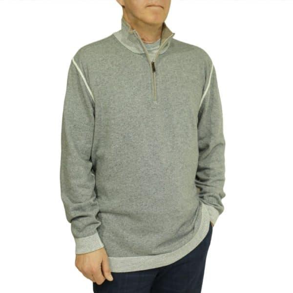 Codice Sweater half zip grey 4