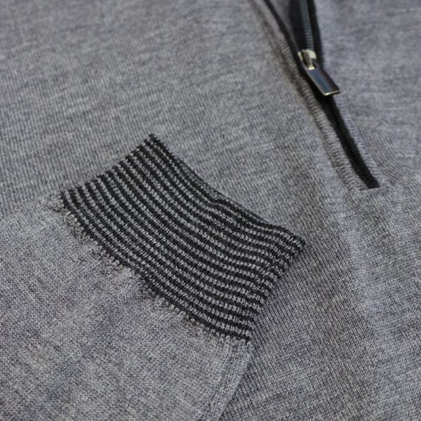 Codice sweater half zip dark grey 3
