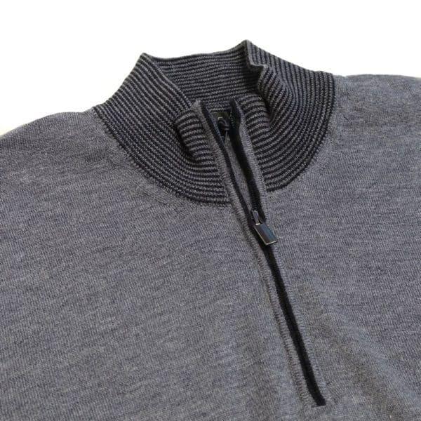 Codice sweater half zip dark grey 4