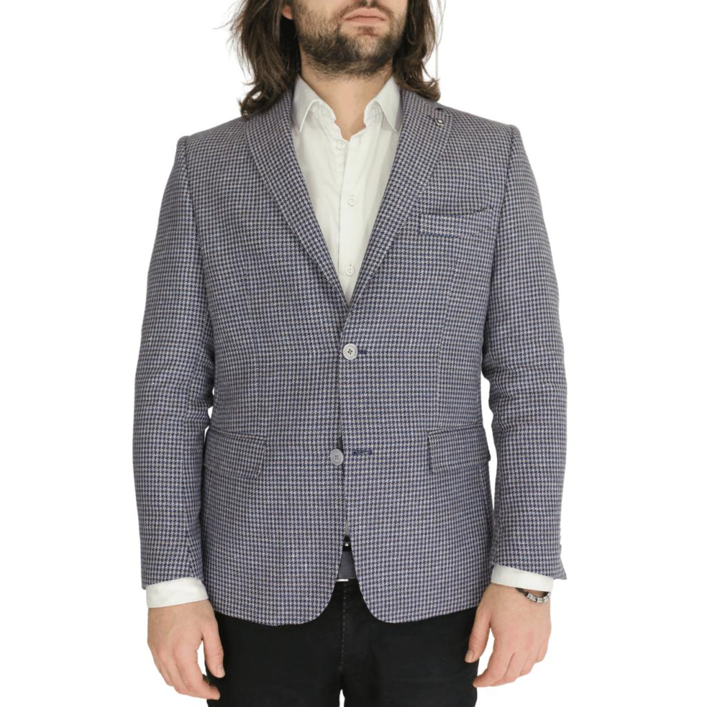 Common Sense blazer jacket houndsooth front