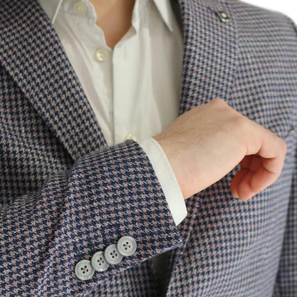 Common Sense blazer jacket houndstooth detail button