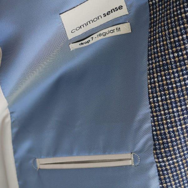 Common Sense blazer jacket small check button lining