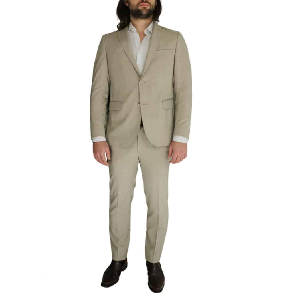 Eduard Dressler beige jacket and trouser