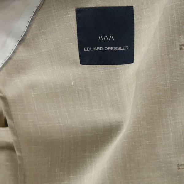 Eduard Dressler beige jacket lining detail