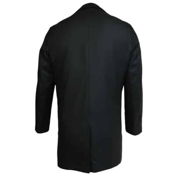 Eduard Dressler black raincoat back