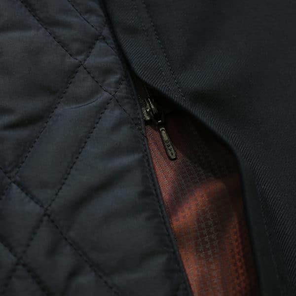 Eduard Dressler black raincoat detachable detail